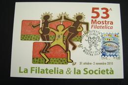 2010  53°    MOLFETTA  FDC MOSTRA FILATELICA FIRST DAY PREMIER JOUR MAXIMUM - Francobolli (rappresentazioni)