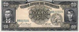 FILIPPINE 20 PESOS  1949 P-137 UNC - Filippine