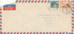 Pakistan Air Mail Cover Sent To USA 25-10-1962 (a Bit Of The Upper Left Corner Of The Cover Is Missing) - Pakistan