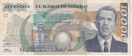 BILLETE DE MEXICO DE 10000 PESOS AÑO 1991 DE CARDENAS   (BANKNOTE) - México
