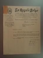 1935 La Royale Belge SA D'assurance Bruxelles Lettre Envoyée Au Notaire à Wasmes Bijenkorf Ruche - Banque & Assurance