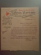 Belgique 1910 Lettre De François Battard Grande Epicerie Nationale Fabrique De Chicorée Ville-Pommeroeul Coq - Alimentaire