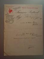 Belgique 1921 Lettre De François Battard Grande Epicerie Nationale Fabrique De Chicorée Ville-Pommeroeul Coq - Alimentaire