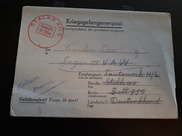 Lettre De Guerre 40/45 Provenant  Stalag XIII C  Courrier Entre Deux Prisonniers Adresse érronée - Poststempels/ Marcofilie