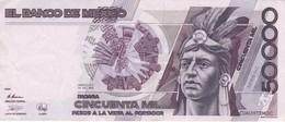 BILLETE DE MEXICO DE 50000 PESOS AÑO 1990 EN CALIDAD EBC (XF)  (BANKNOTE) - México