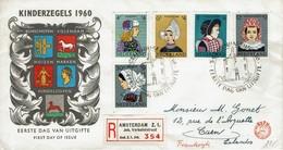 Niederlande Nederland 1960 - Trachten - MiNr 755-759 FDC / R-Brief - Kostüme