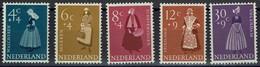 Niederlande Nederland 1958 - Trachten - MiNr 712-716 ** - Kostüme