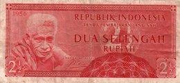 INDONESIA-2½ Rupiah-1956 P-75 - Indonesia