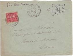 LANDES FACTEUR RECEVEUR VIEUX BOUCAU 1929 - Postmark Collection (Covers)