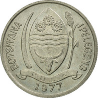 Monnaie, Botswana, 10 Thebe, 1977, British Royal Mint, SUP, Copper-nickel, KM:5 - Botswana