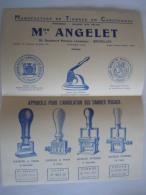 Mon Angelet Bruxelles Pub. Circa 1930 Manufacture De Timbres En Caoutchou Appareils Pour L'annulation Timbres Fiscaux - Matériel Et Accessoires