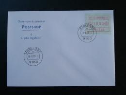 Lettre Avec Vignette ATM Cover Ouverture Du Premier Postshop Ingeldorf Luxembourg 2000 - Vignettes D'affranchissement