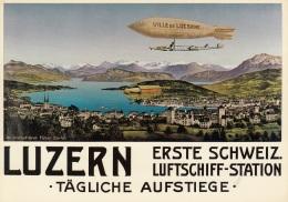 Zeppelin Ville De Lucerne,Luftpostausstellung LUPO 1972,ungelaufen - Dirigeables