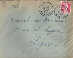 53 - MAYENNE - JAVRON - 1954/59 - TàD De Type A7 - Postmark Collection (Covers)