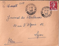 53 - MAYENNE - SAINT BERTHEVIN - 1959 - TàD De Type A7 - Postmark Collection (Covers)