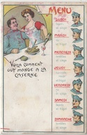 CPA- Humour Militaire-  MENU De La Semaine -2scans - War 1914-18