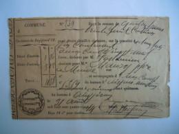 France Nimes 1884 Reçue De Paiement De Contribution Indirect Form. 12,3 X 7,8 Cm - Historische Documenten