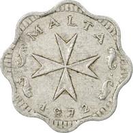 Monnaie, Malte, 2 Mils, 1972, British Royal Mint, TB, Aluminium, KM:5 - Malte