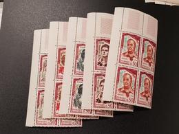 N° 1301 à 1305  Neuf ** Gomme D'Origine, Bloc De 4  TTB - Unused Stamps