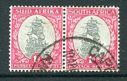 South Africa 1933-48 SUID-AFRIKA Hyphenated - 1d Dromedaris - Wmk. Inverted - Pair Used (SG 56cw) - Sud Africa (...-1961)