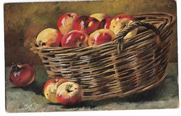 Nature  Morte  -  Panier  Et  Pommes - Schilderijen
