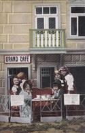 CPA Children, Drinking In A Pub, Enfants Sur Terrasse Du Bar (pk50527) - Scènes & Paysages