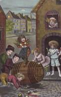 CPA Children, Drinking In A Pub, Enfants Sur Terrasse Du Bar (pk50529) - Scènes & Paysages