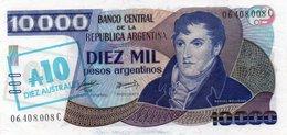 ARGENTINA 10 AUSTRALES 1985 P-322 UNC - Argentina