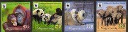 HUNGARY, 2018,MNH,  WWF, PANDAS, ELEPHANTS, POLAR BEARS, ORANG UTANS,4v NICE! - Unused Stamps