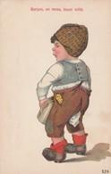 Artist Image 'Garcon, Un Moss, Boum Voila' Boy Urinates In Jug C1900s/10s Vintage Postcard - Humorous Cards