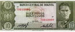 BOLIVIA 10 BOLIVIANOS 1962 P-154 UNC - Bolivia