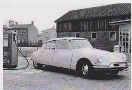 CARTE POSTALE AUTOMOBILE CITROEN DS 19 STATION BP - RARE - 10X15 CM NEUF - Turismo