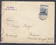 Censuur Brief Von Prag 72 Nach Brasov (134) (29/X/1940) - Bohême & Moravie