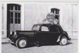 CARTE POSTALE AUTOMOBILE Citroen Traction Motul TDF 1955 - RARE - 10X15 CM NEUF - PKW