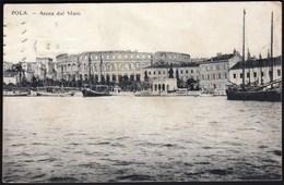 Croatia Pula, Pola 1914 / Arena Dal Mare / Ships / Guido Costalunga 1913 - Croatia