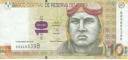 BILLETE DE PERU DE 10 NUEVOS SOLES DEL AÑO 2009 (BANKNOTE) AVION-PLANE-AVIONETA - Pérou