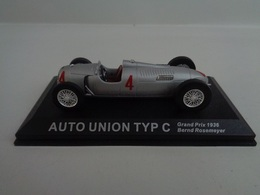 AUTO UNION TYPE C- Vainqueur Grand Prix D'Allemagne 1936- # 4  B.Rosemeyer - 1/43 -100 Ans De Course Automobile-Altaya - Other