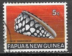 1969 5c Seashell, Used - Papua New Guinea