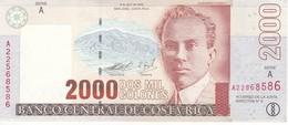 BILLETE DE COSTA RICA DE 2000 COLONES AÑO 2003 EN CALIDAD EBC (XF) (BANKNOTE) DELFIN Y TIBURON MARTILLO - Costa Rica