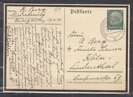 Postkarte Von Niederbreisig (Koblenz) Nach Koln (303) (19/10/1934) - Deutschland