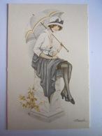 REPRO Pub Bio-tex Illustration Meunier Femme Avec Chapeau Vrouw Pin-up - Pin-Ups