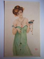 REPRO Pub Bio-tex Illustration Femme Avec Bijoux Vrouw Met Juwelen Kaphael Kirchner Pin-up - Pin-Ups