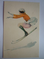 REPRO Llustration Femme Sur Skis Vrouw Op Skis Pin-up - Pin-Ups