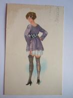 REPRO Llustration Femme Bas Vrouw Pin-up Gelopen Circulée 1983 Un Peu Sale Een Beetje Vuil - Pin-Ups