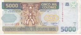 BILLETE DE COSTA RICA DE 5000 COLONES AÑO 1999  (BANKNOTE) TUCAN-LEOPARDO - Costa Rica