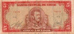 CILE 5 ESCUDOS 1964  P-138 - Cile