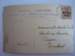 Belgie Belgique Scherpenheuvel  > Turnhout Censuur Stempel Cachet Gepruft Uberwaghumgsstelle Diest Op Sur Cp - Army: German