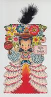 Hallmark Doll Card No. 20 - Rita Of Brazil - Copyright 1948 - Unused - VG Condition - 4 Scans - Fancy Cards