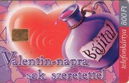 TARJETA TELEFONICA DE HUNGRIA. FELIZ, SAN VALENTIN. HU-P-2000-01. (035) - Hungría