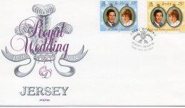 JERSEY 1981 Royal Wedding FDC - Jersey
